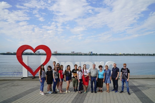 Participants of Field Training in Local Studies and Field Training in Museums and Archives visited the Dnieper