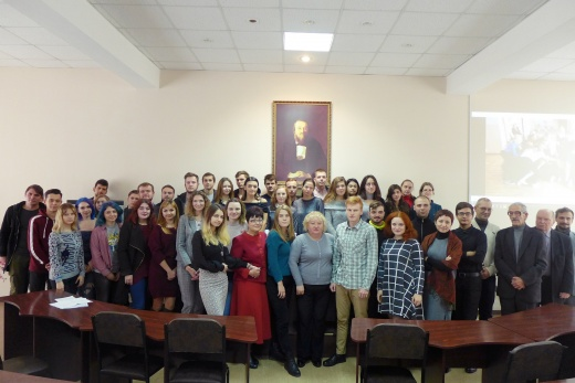 ​Meeting of students and lecturers with history teachers - graduates of The Historical School