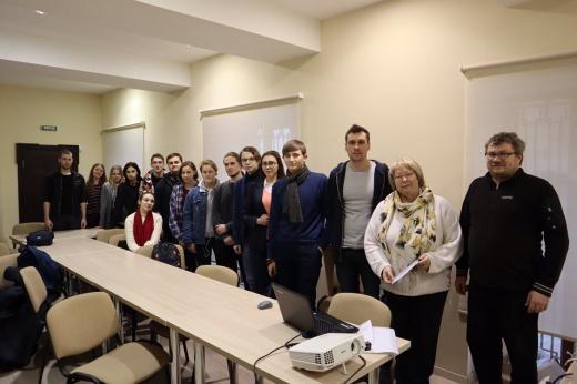 Заседание студенческого научного кружка археологии кафедры историографии, источниковедения и археологии