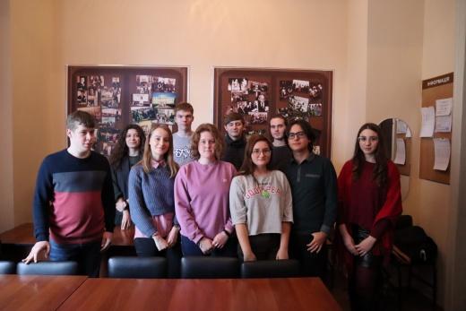 Заседание студенческих научных кружков кафедры историографии, источниковедения и археологии