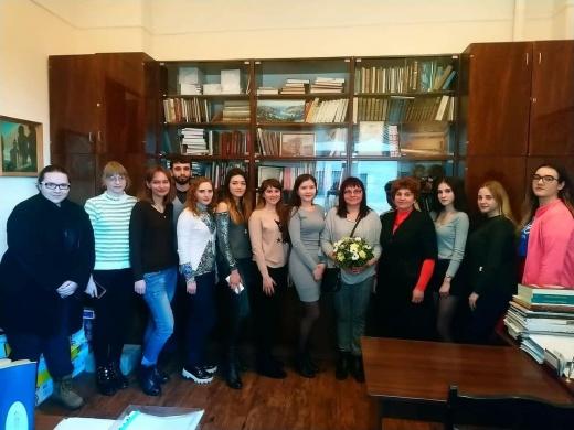 Засідання  гуртка мистецтвознавців
